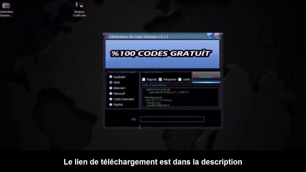 GRATUIT TÉLÉCHARGER STARPASS GENERATEUR DE UN CODE