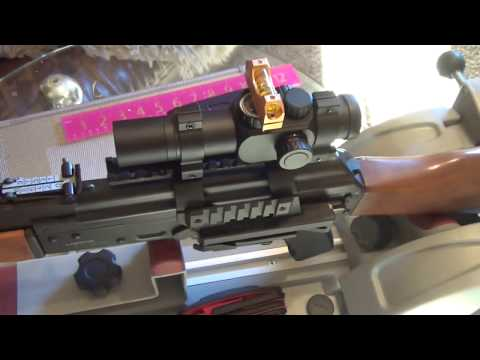 Установка прицела на М-70 Yugo (AK-47)