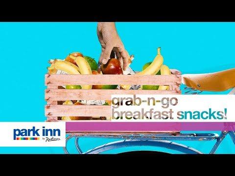 Grab-n-go breakfast snacks at Park Inn by Radisson!