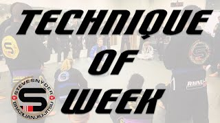 Technique of Week (1 11 21): Sweep - Arm Trap to Back Mount