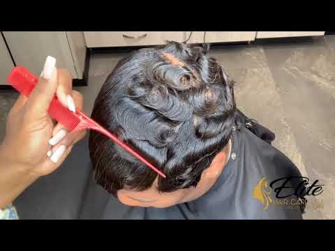 Dry Waves On Short Hair | How To Dry Wave Hair