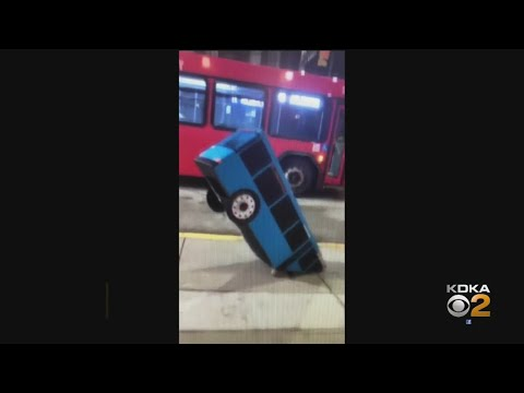 Tyson - Pittsburgh's Best Halloween Costume - Bus Stuck In A Sinkhole