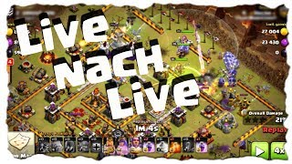 LIVE NACH LIVE - CLANKRIEG | Clash of Clans Deutsch [German] | Let´s Play COC