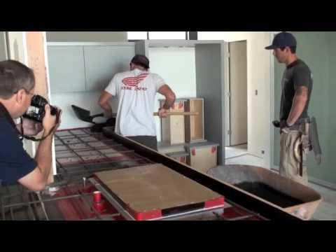 Concrete Countertop Installation You