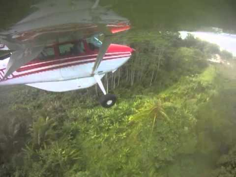 Cessna 185   Three Tricky Little Airstrips