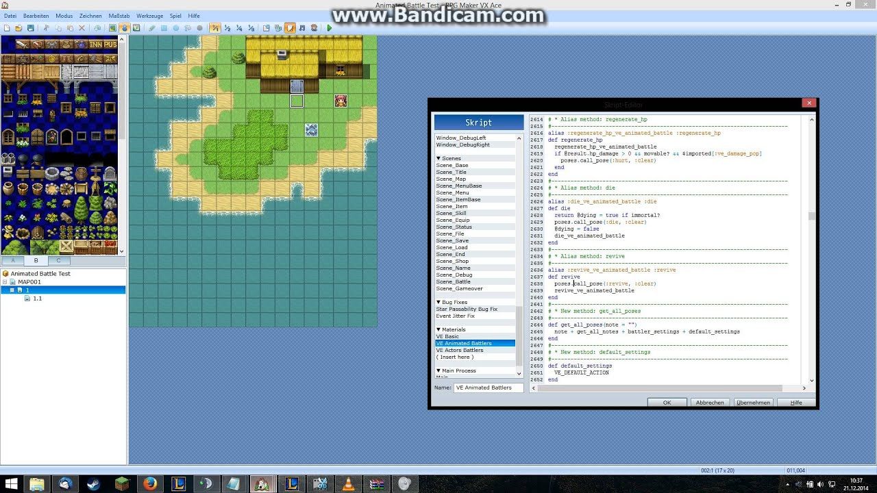 RPG Maker VX Ace - Animated Battles - Skill Creation & Sprite Sheet  Modification/Change - Part 3