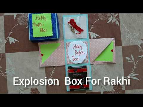 Explosion Box for Rakshabandhan | Explosion Box for Brother/ Sister
