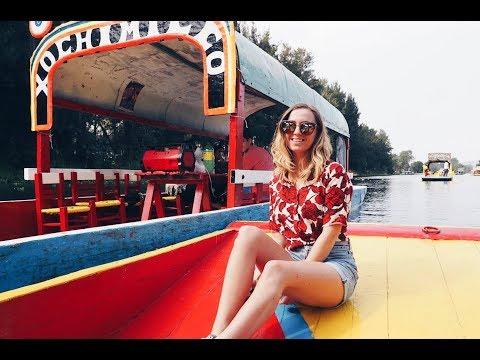 Boat ride in Xochimilco, Mexico -Trip in Central and North America ep 60-Travel vlog calatorii