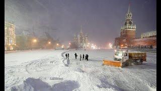 Смотреть видео Метель в Москве. онлайн