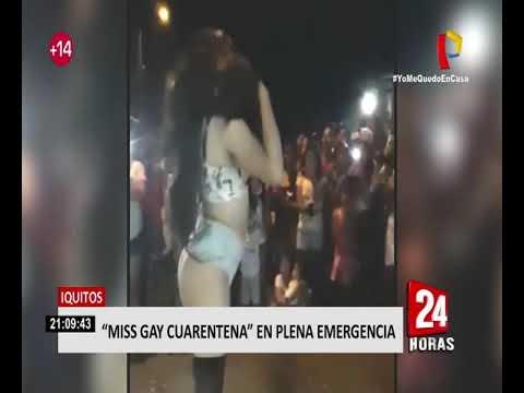 """Iquitos: vecinos organizan """"Miss gay cuarentena 2020"""" en medio de la pandemia"""