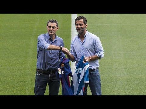 El buen rollo entre Valverde y Quique Sánchez Flores antes del Derbi