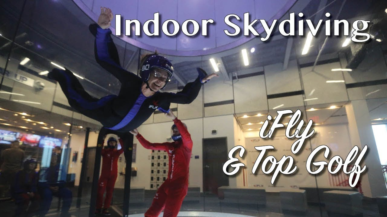 Indoor skydiving at iFly Loudon and Top Golf family fun