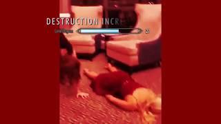 HANDSTAND FAIL GIRL GONE MINECRAFT MEME
