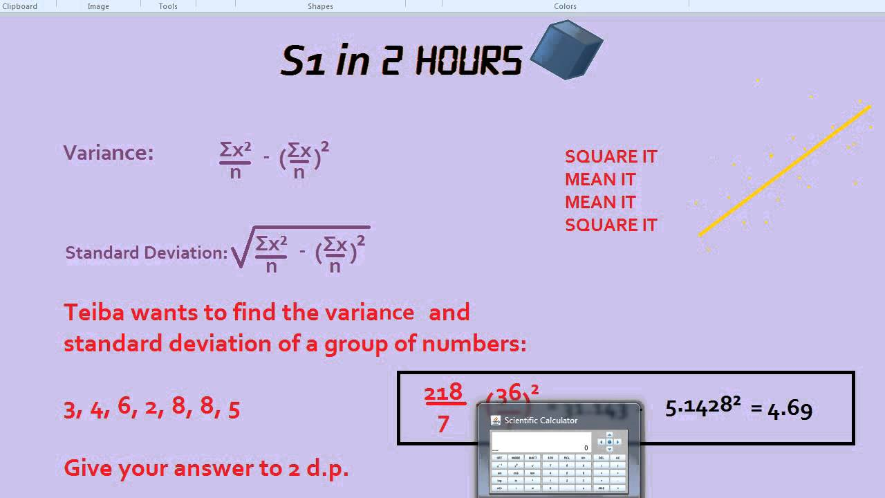 S1 in 2 hours variance and standard deviation youtube s1 in 2 hours variance and standard deviation ccuart Images