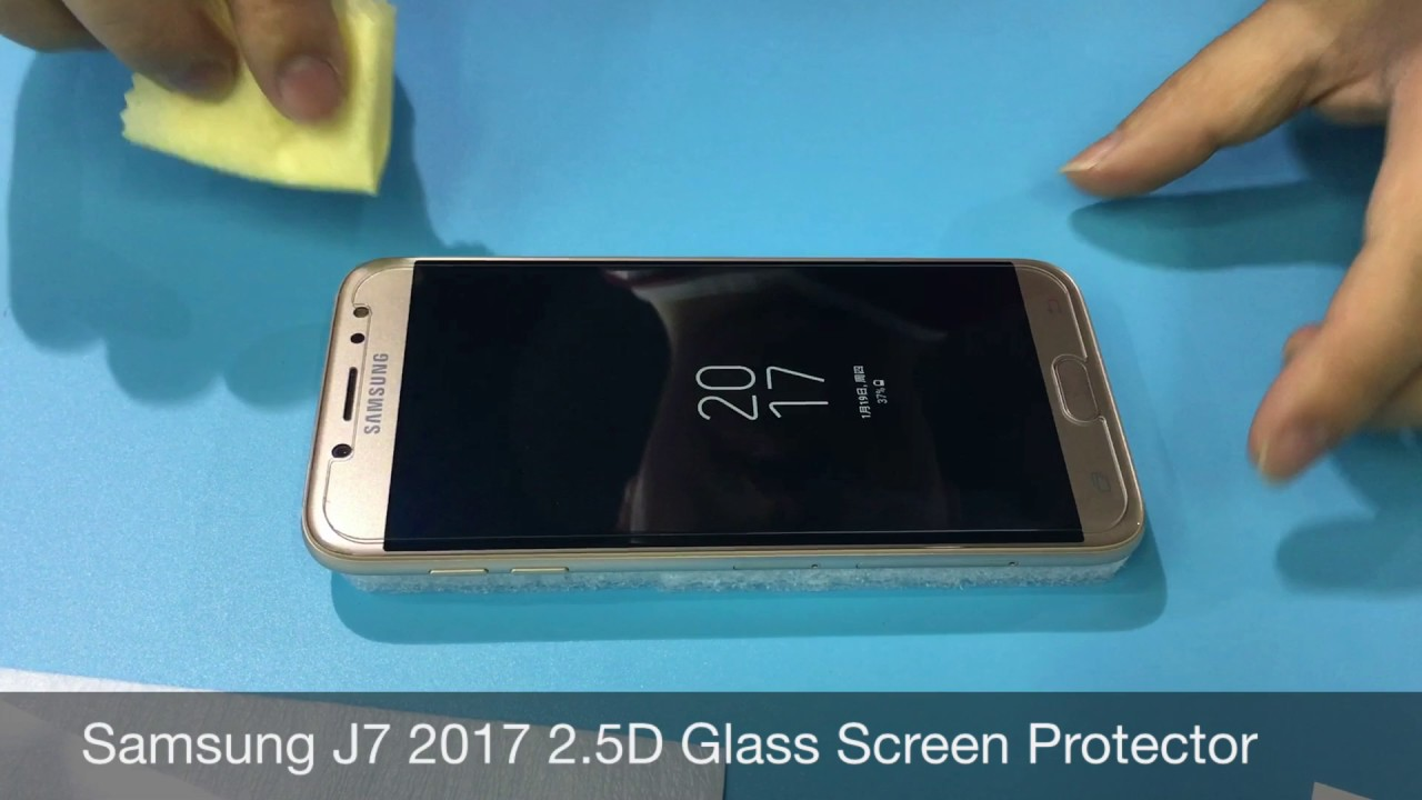 80a4ec112 Samsung Galaxy J7 2017 J7 Pro Glass Screen Protector - YouTube