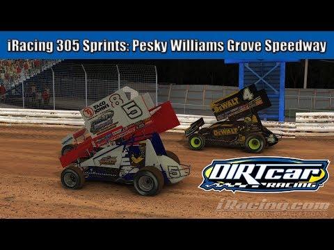 iRacing 305 Sprint Cars: Pesky Williams Grove Speedway