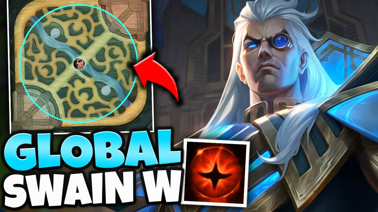 WTF?! NEW SWAIN BUFFS GIVE HIM GLOBAL RANGE ON HIS W! (RIOT MESSED UP) - League of Legends