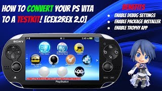 How To Convert Your PS Vita Into A Testkit! [CEX2REX 2.0] ★ Enable Debug Settings! #HENKaku