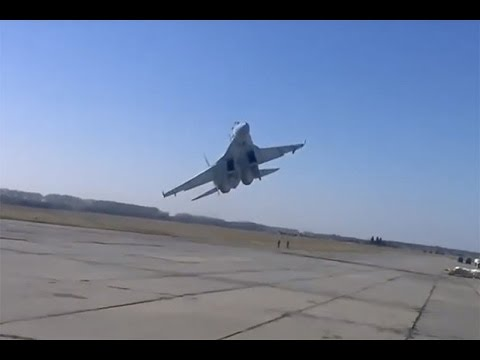 Ukrainian SU-27 fighter jet almost lost control - www.AviationInspector.com
