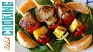 Tropical Kebabs - Bacon-wrapped Pork Skewers With Pineapple