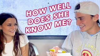 How Well Does My Sister Chloe Know ME? | Noah Schnapp