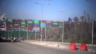 أروع مشهد فى قناة السويس على معدية نمرة 6
