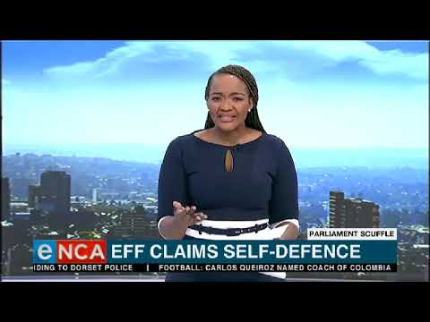 EFF claims self defence in slapping incident