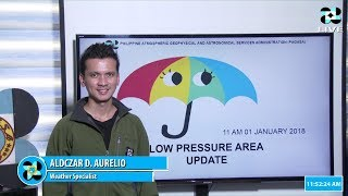Public Weather Forecast Issued at 11:00 AM JANUARY 1,2018