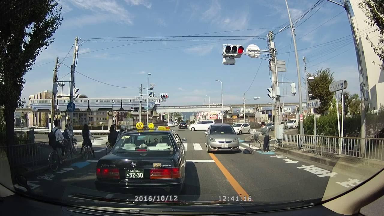 【交通事故】 左折車と自転車【大阪中環 自転車の少年は相當頭 ...