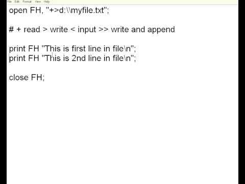 Perl 8 File Handling