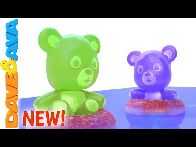 😍 Five Little Gummy Bears | Learn to Count to Five with Dave and Ava 😍
