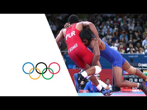 Wrestling Men's FR 60kg Repechage Round 1 - India v Puerto Rico - Full Replay | London 2012 Olympics