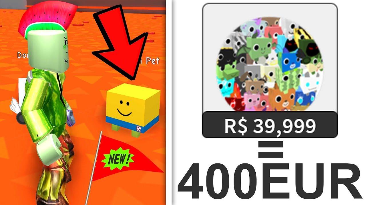 39.999 ROBUX ITEM! 400 EURO! (Roblox Pet Simulator) - YouTube