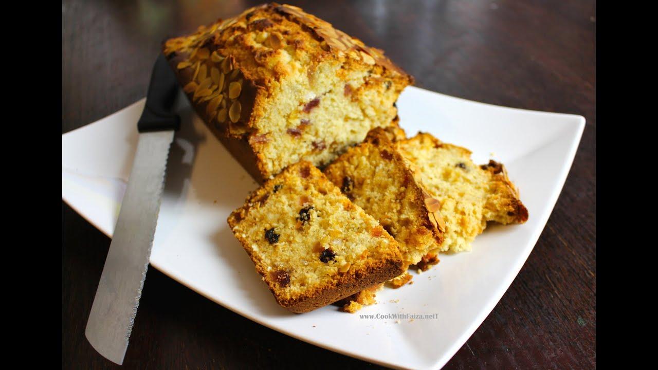 Dry cake recipe in urdu