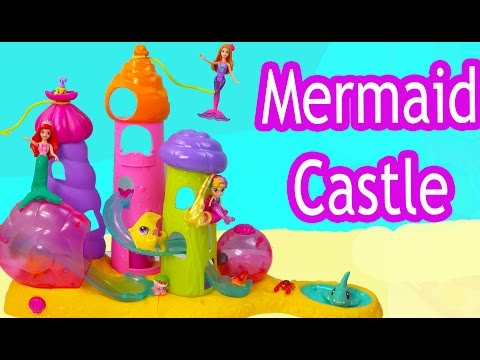Thumbnail: Mermaids Castle Playset Waverly Magic Seashells: Royal Sandcastle with Disney Ariel mini Barbie Doll