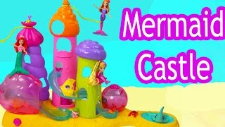 Mermaids Castle Playset Waverly Magic Seashells: Royal Sandcastle with Disney Ariel mini Barbie Doll