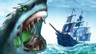 ☠️ БАЗА СКЕЛЕТОВ НА ВУЛКАНЕ И ГОНКИ С МЕГАЛОДОНОМ - SEA OF THIEVES
