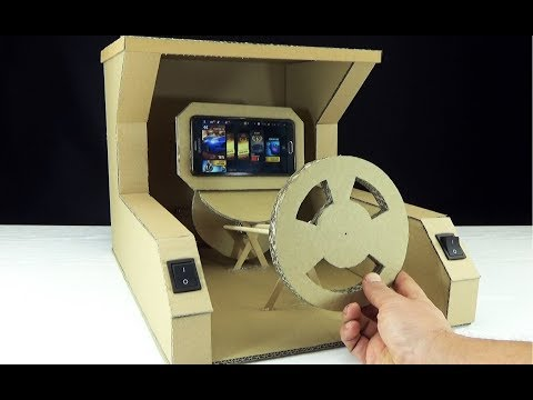 How to Make Gaming Steering Wheel for Smartphone from Cardboard