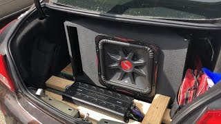 KICKER SUB FLEX FROM THE TRUNK! BANGING ON A BUDGET!