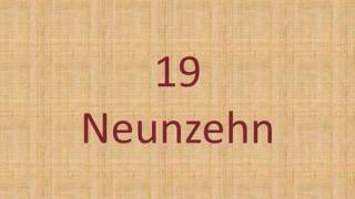 German Number - Counting From 0 to 20