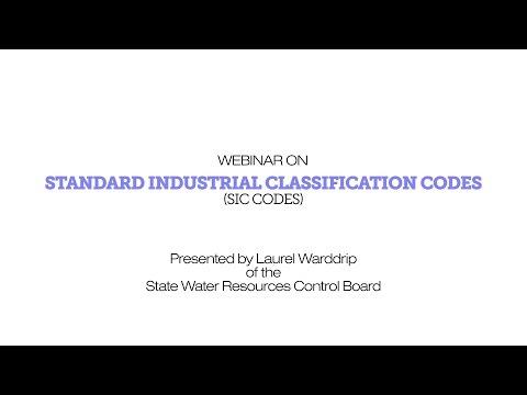 SIC Code Webinar
