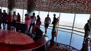 Dubai seen from 125th floor Burj Khalifa.13.3.2015