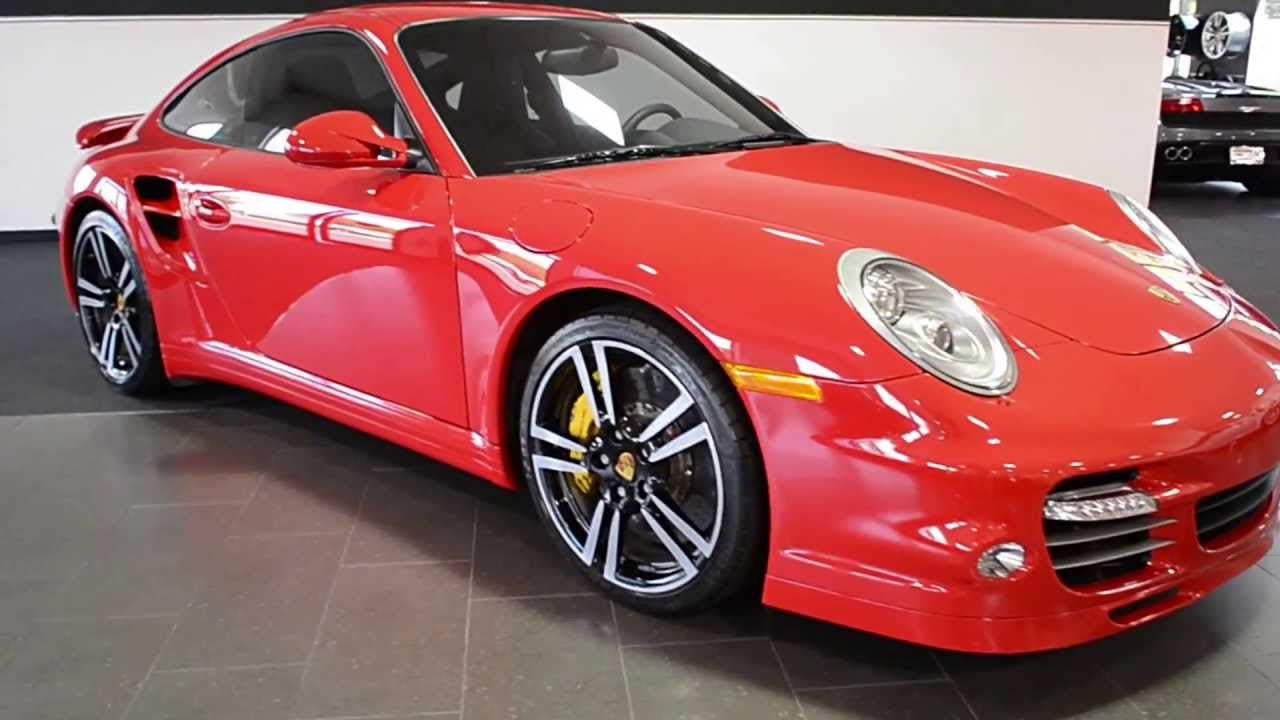 2012 Porsche 911 Turbo S Guards Red LC252 - YouTube
