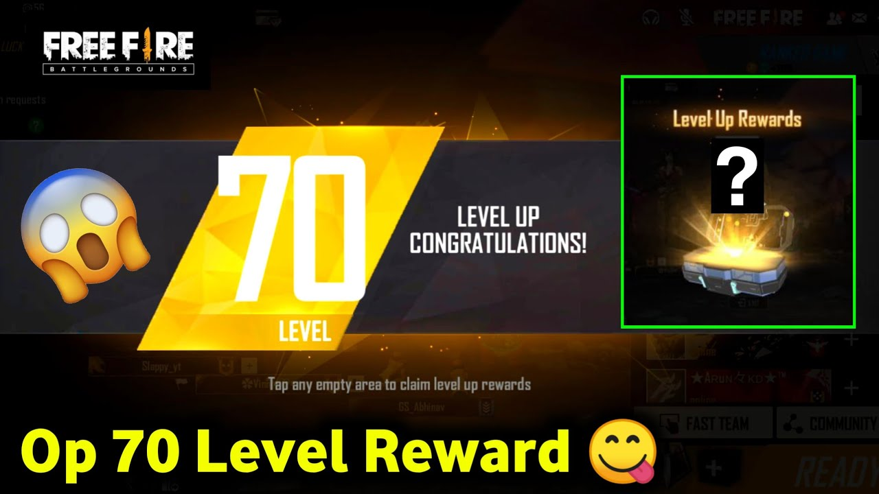 OP Surprise 70 Level Reward 😋|| How To Boost Or Increase Your Level In Free Fire 🔥||Abhinav Gaming