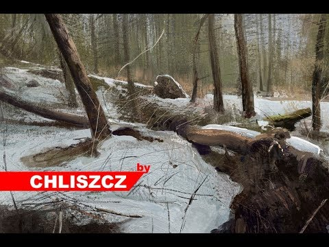 Photoshop CC  digital painting – Forest Landscape