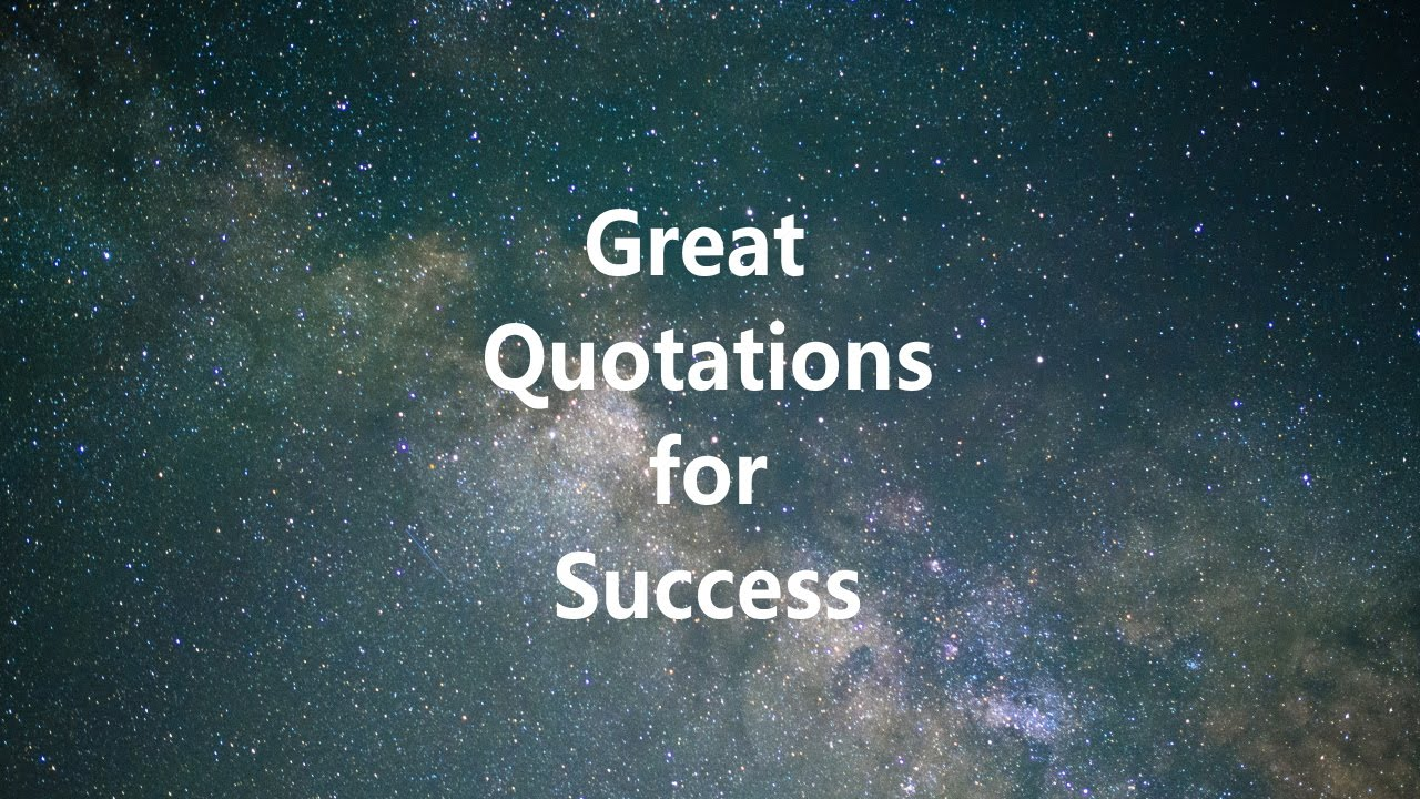 Great Quotations Great Quotations For Success Thomas Edison  Youtube