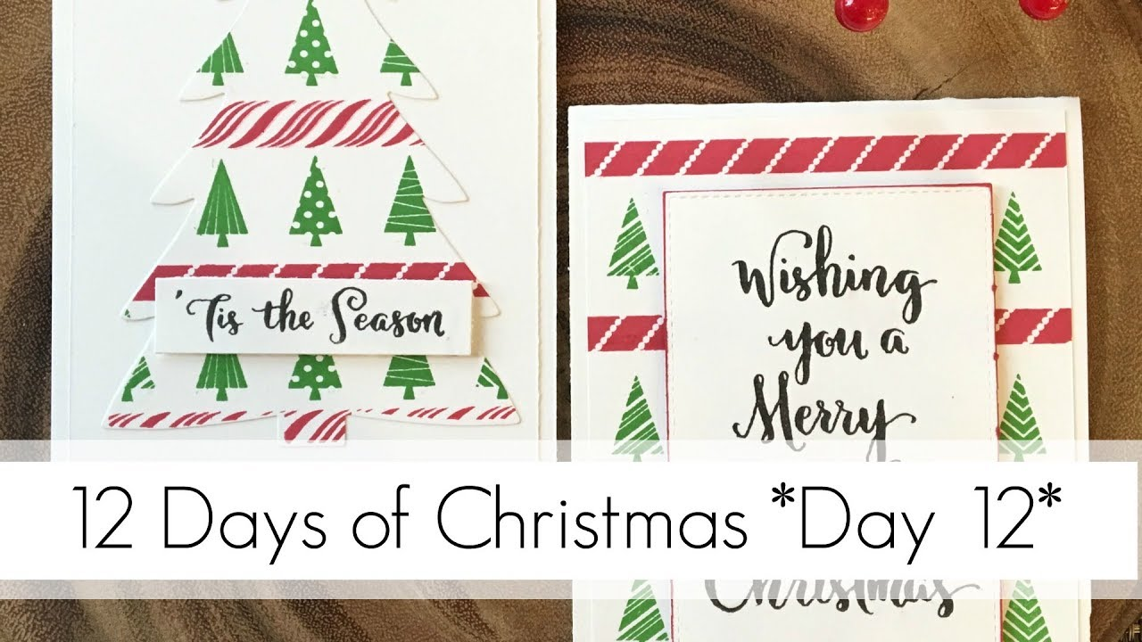 Easy to Replicate Xmas Cards & Fixing Mistakes - YouTube