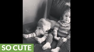 Little girl protests nap time, can't stay awake for play time