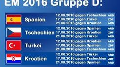 STATISTIK der EM 2016 / Gruppe D