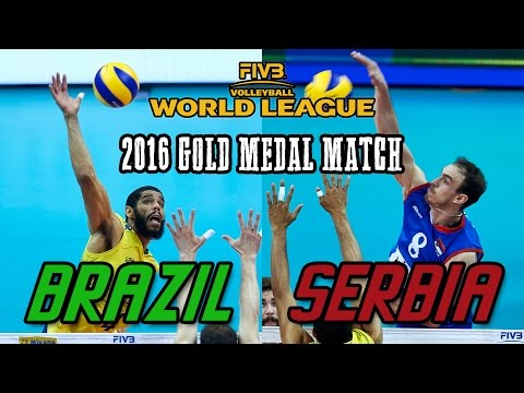 Serbia vs  Brazil GOLD MEDAL MATCH   2016 World League Final   Full Match All Breaks Removed
